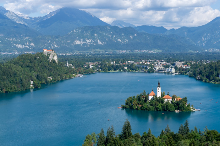 View from the Ojstrica viewpoint - a highlight of our Lake Bled day trip
