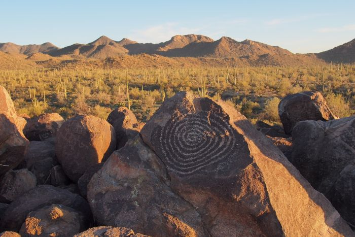 Petroglyph on Signal Hill in Saguaro National Park